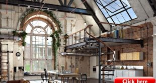 Take a look at this stunning industrial loft | #vintageindustrialstyle #industri...