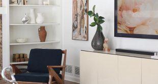 living room mid century modern design love the vintage ivory credenza for the en...