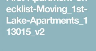 First-Apartment-Checklist-Moving_1st-Lake ...