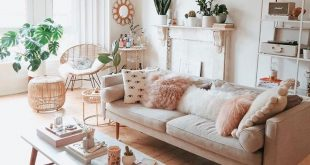 - A mix of mid-century modern, bohemian, and industrial interior style. Home and