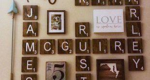 Bauernhaus Dekor, rustikale Wand-Dekor, große Wandfliesen, Housewarminggeschenk, Bauernhaus Fliesen, hölzerne Scrabble-Wand-Dekor, Holz Dekor