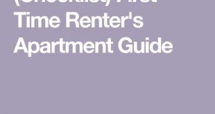 (Checklist) First Time Renter's Apartment Guide