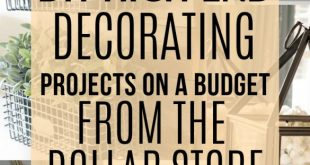 DIY home decor on a budget dollar store | Home decor on a budget dollar store | ...