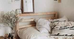 Gemütliche minimalistische Schlafzimmer Dekoideen #bedroomideas #bedroomdecor
