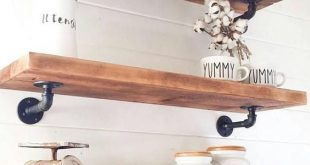I just love these floating cedar shelves!! These would make a the perfect shelve...