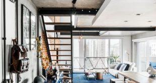 Loft evidencia a beleza do tijolinho e do concreto aparente - #aparente #beleza ...