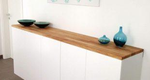 Schuhschrank aus Ikea Küchenschränke Method einfach umfunktioniert und mit Holz Arbeitsplatte verfeinert